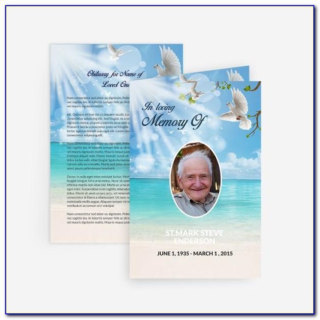 Free Online Memorial Card Template