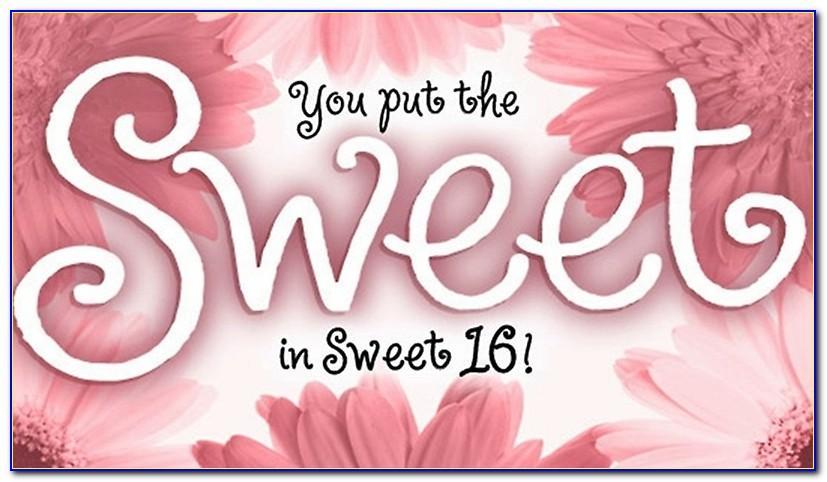 Free Online Sweet 16 Birthday Cards