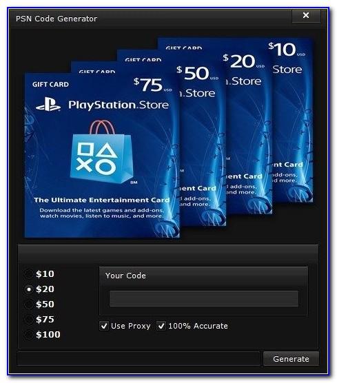 Free Playstation 4 Gift Cards No Human Verification