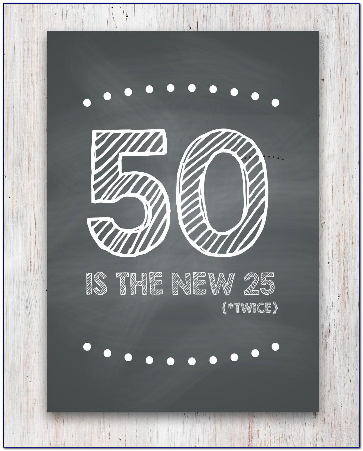 Free Printable 50th Birthday Cards Funny