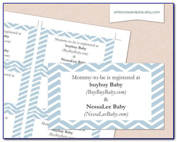 Free Printable Baby Registry Announcement Cards
