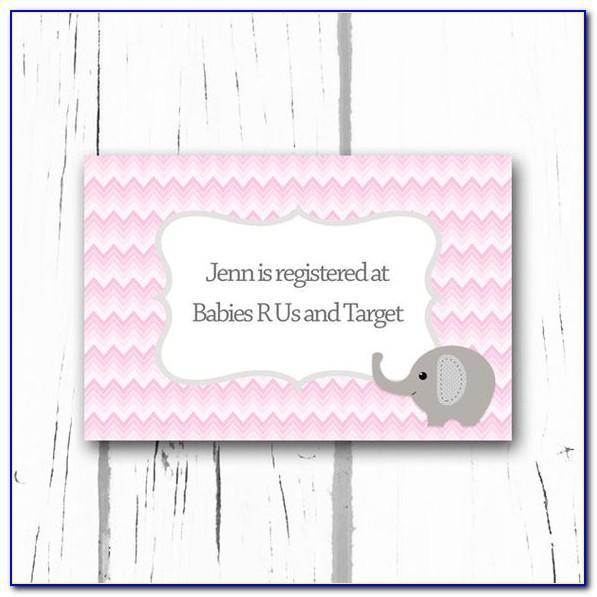 Free Printable Baby Registry Insert Cards