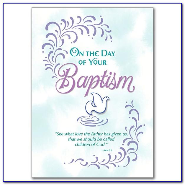 Free Printable Baptism Cards