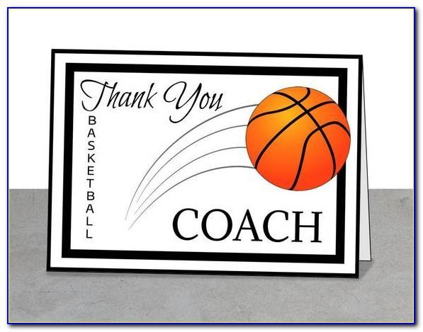 Free Printable Basketball Coach Thank You Cards