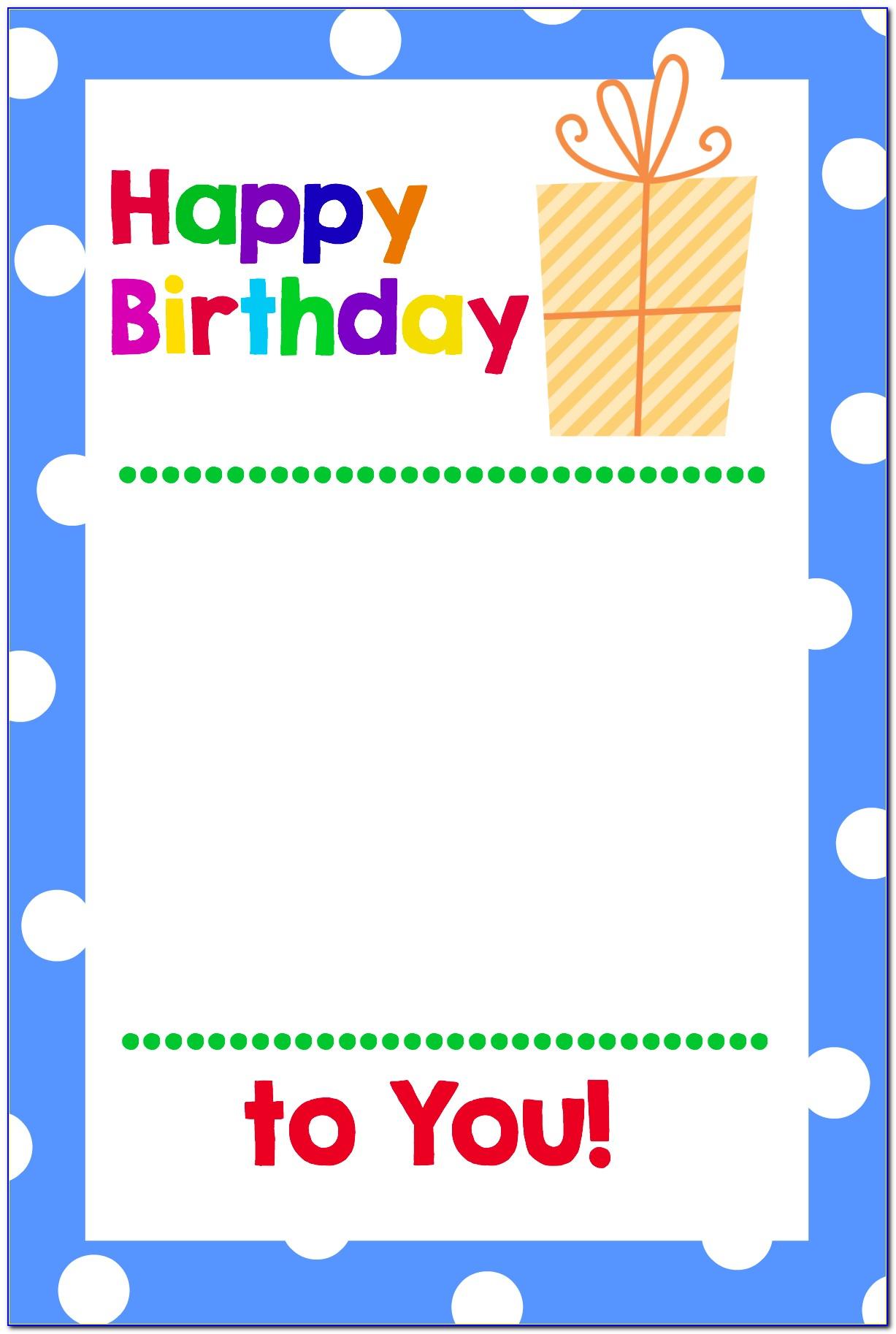Free Printable Birthday Card Templates For Mac