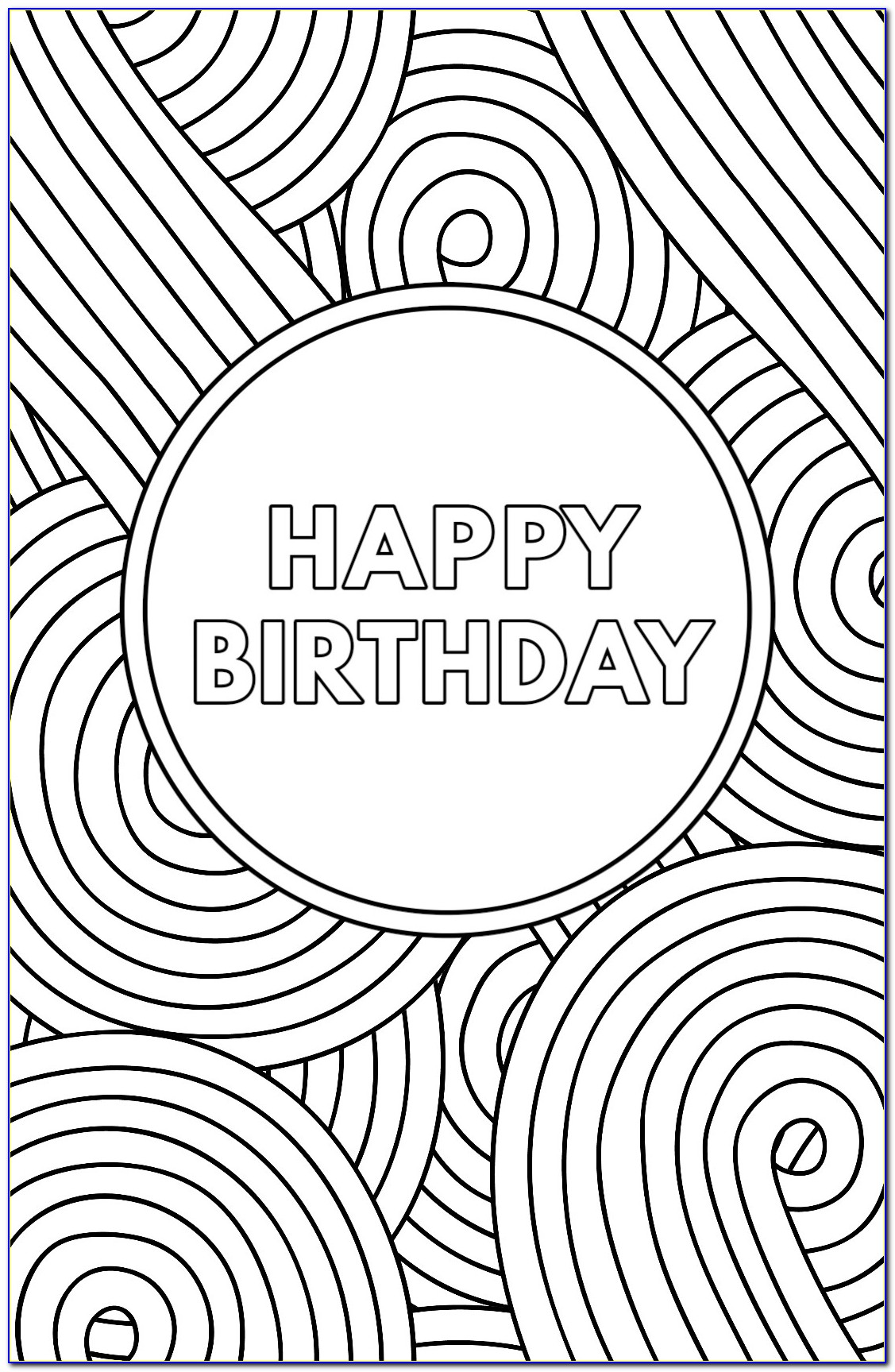 Free Printable Birthday Cards Coloring Pages