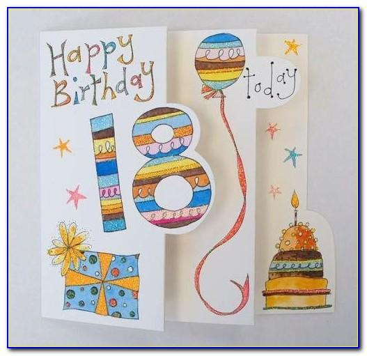 Free Printable Birthday Cards For 18 Year Old Son