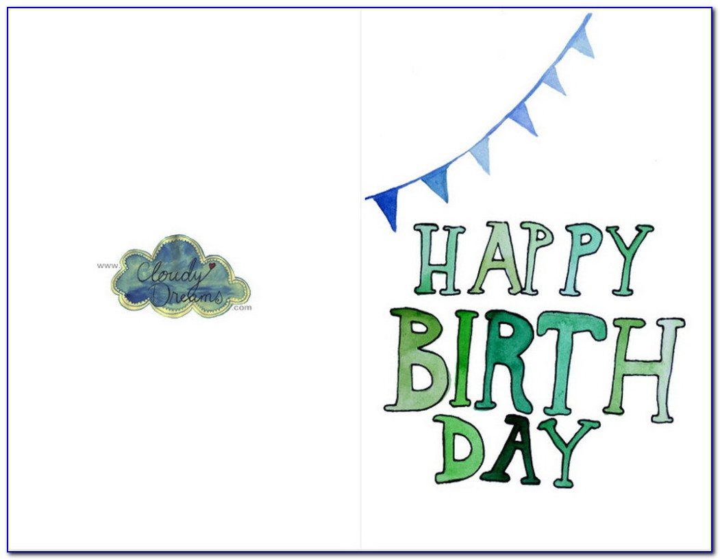 Free Printable Birthday Cards For Daddy