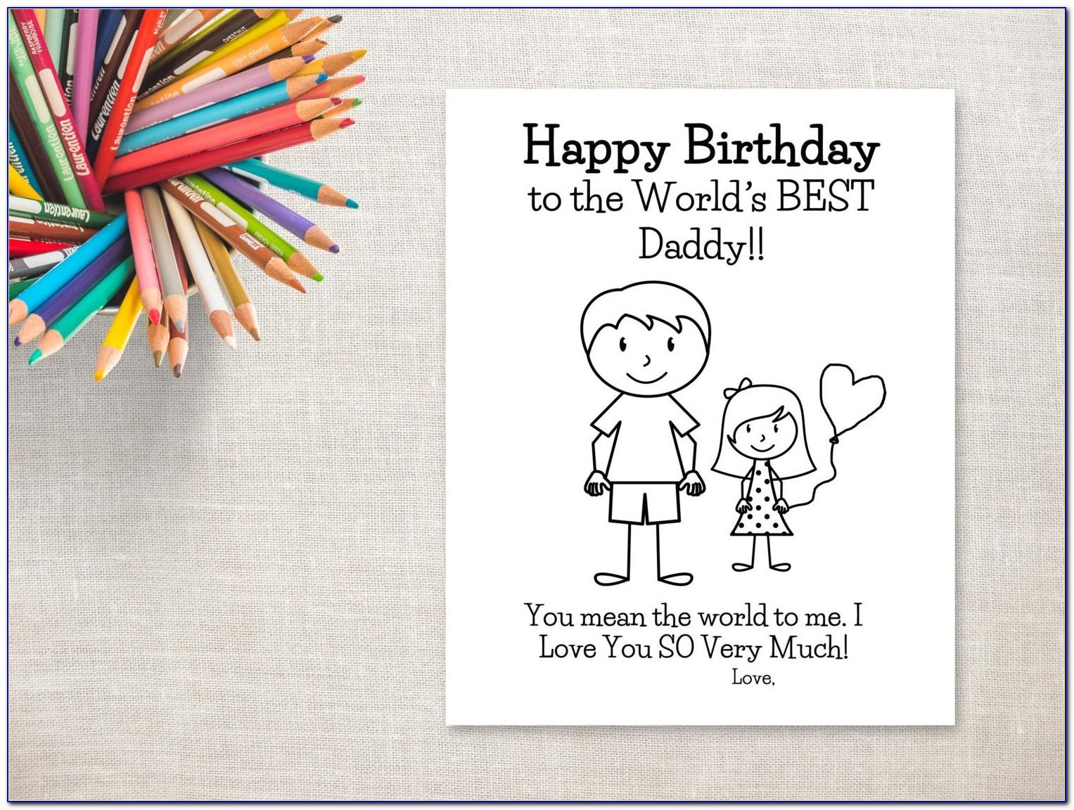 Free Printable Birthday Cards For Daughter From Dad