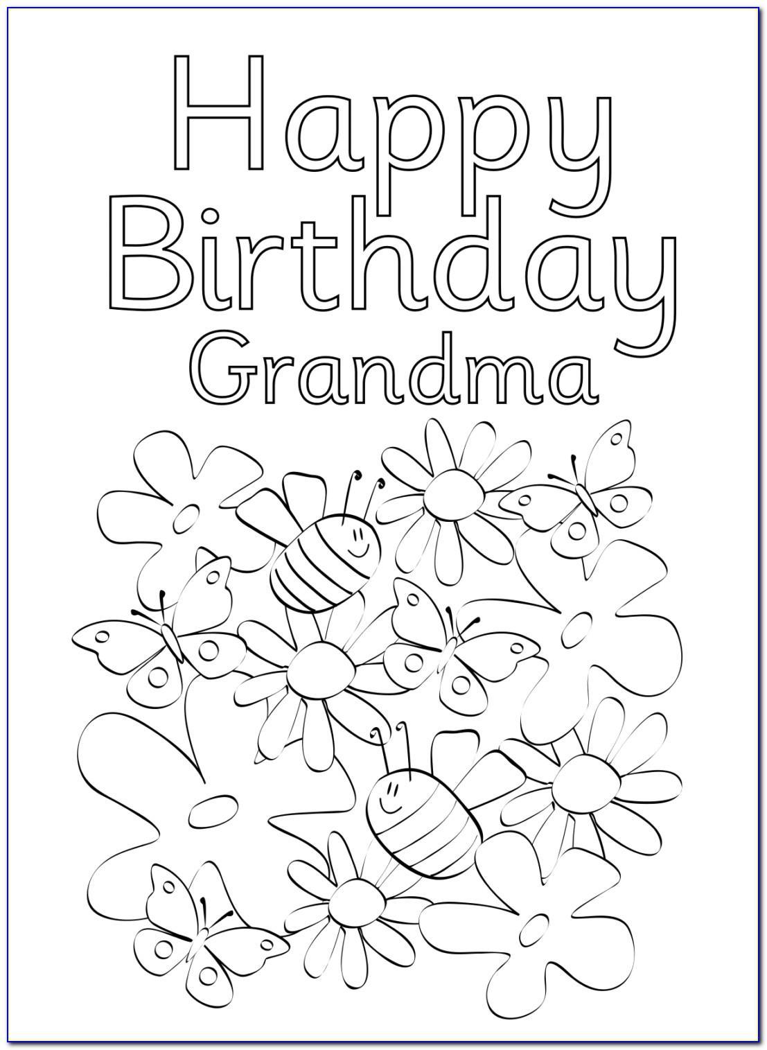 Free Printable Birthday Cards For Grandma To Color