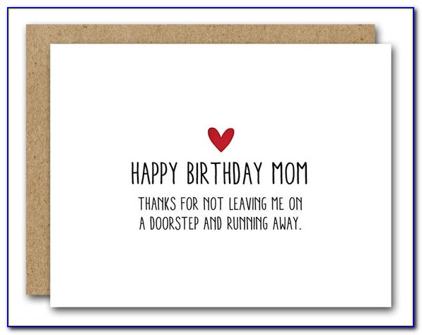 Free Printable Birthday Cards For Mom Funny