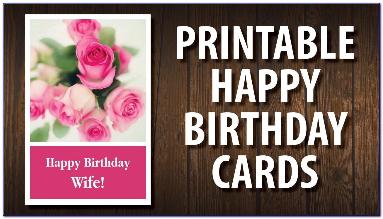 Free Printable Birthday Cards For My Wife