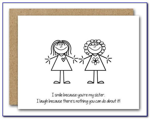 Free Printable Birthday Cards For Sister Funny