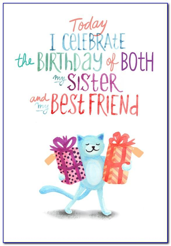 Free Printable Birthday Cards For Sister