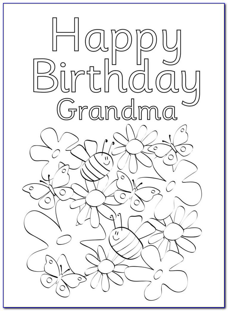 Free Printable Birthday Cards To Color For Grandma