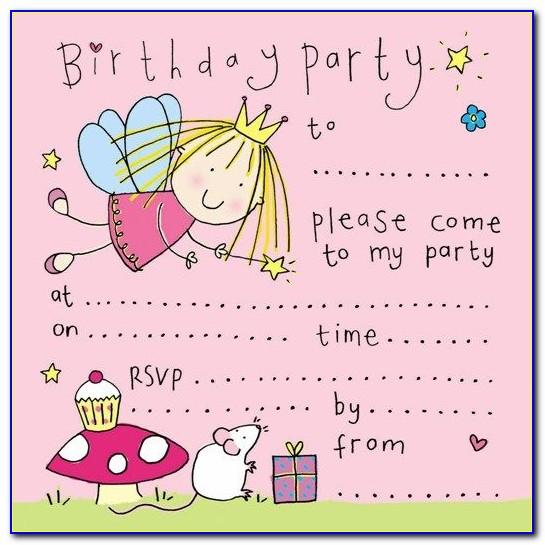 Free Printable Birthday Invitation Card Templates