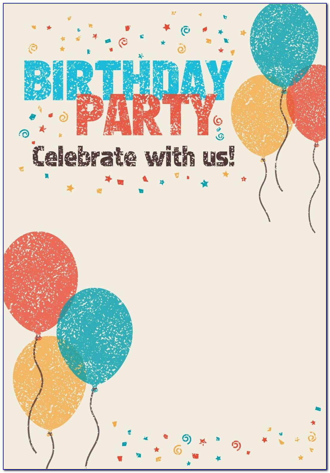 Free Printable Birthday Invitation Cards For Adults