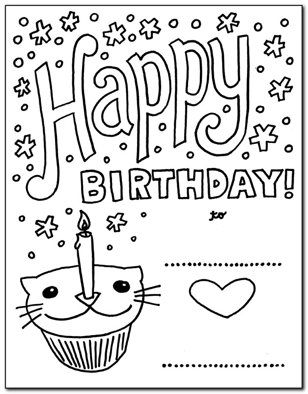 Free Printable Boy Birthday Cards To Color
