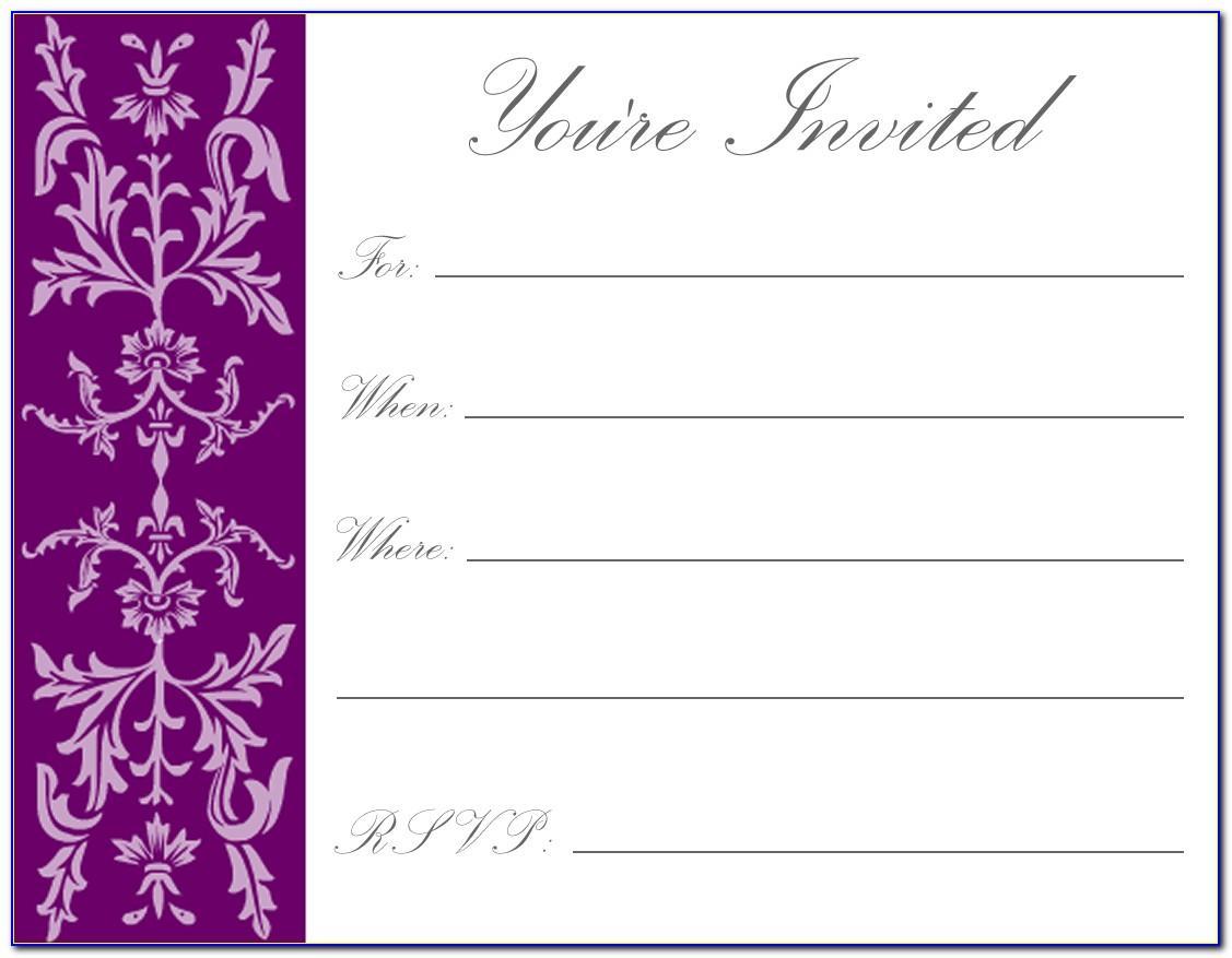 Free Printable Children's Birthday Invitation Cards