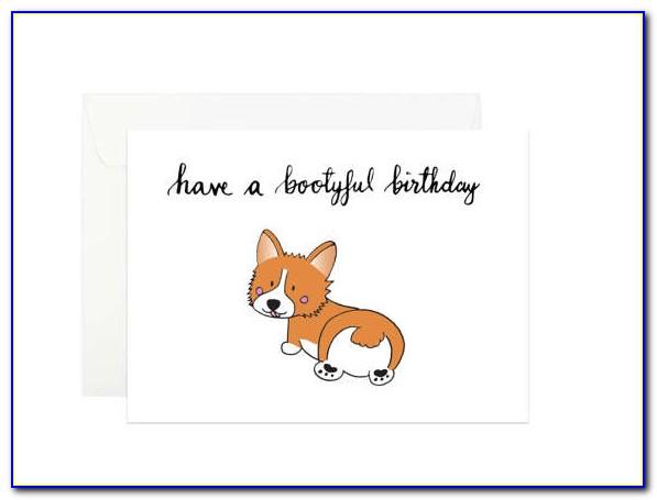 Free Printable Corgi Birthday Card