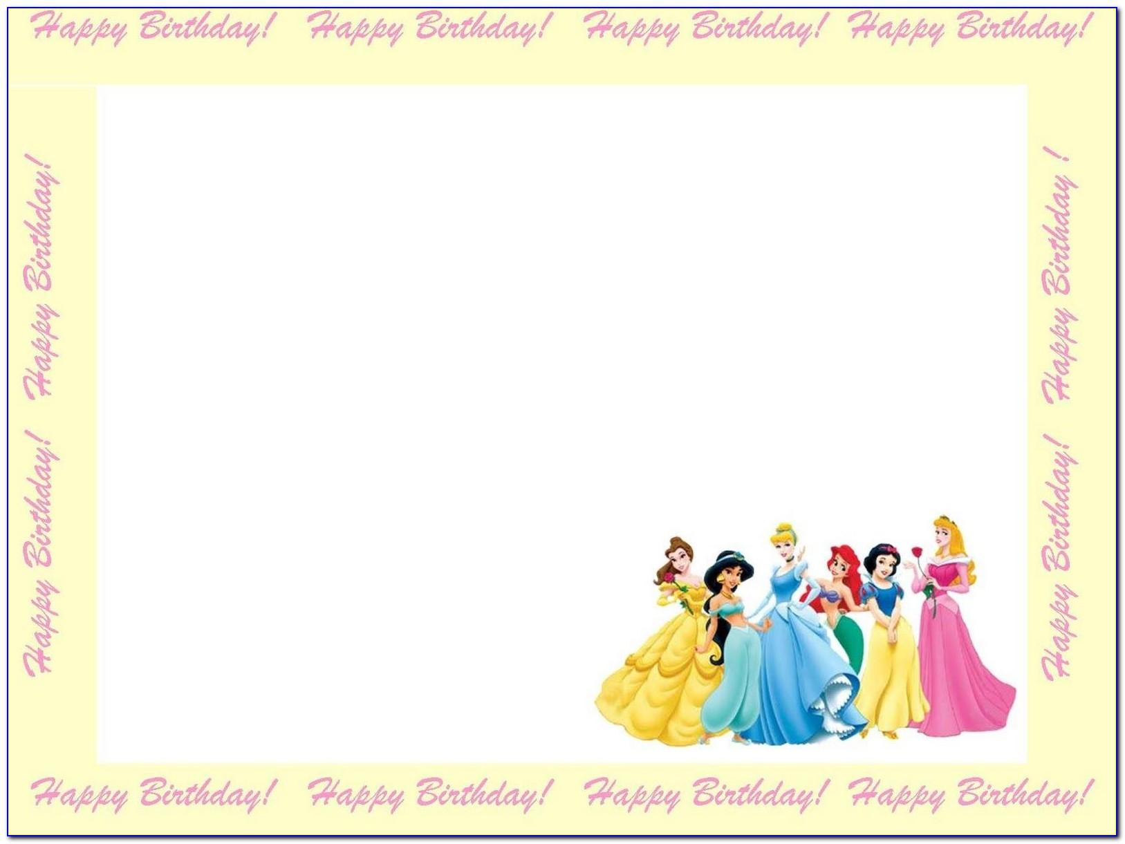 Free Printable Disney Princess Happy Birthday Cards