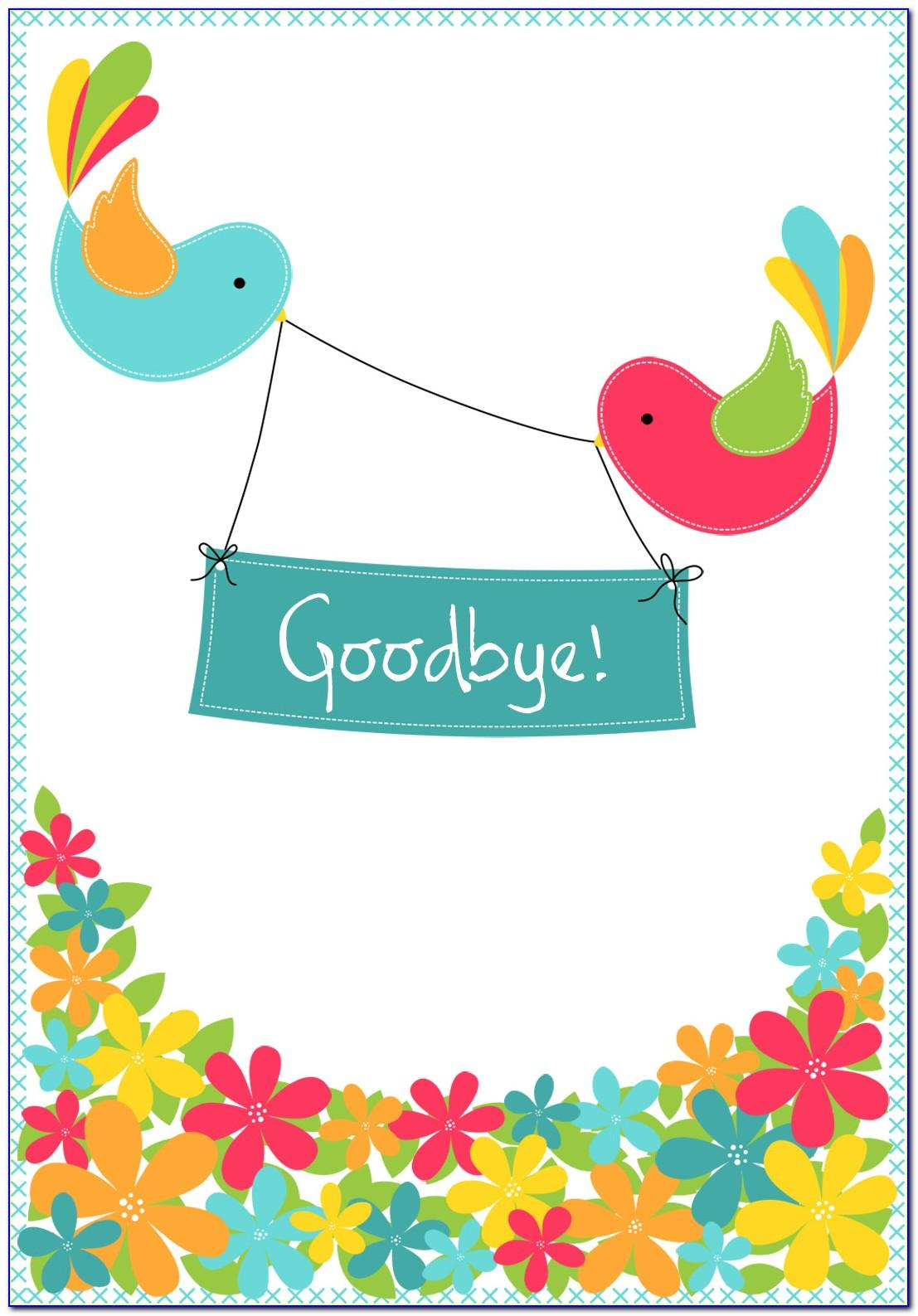 Free Printable Farewell Cards Coworker