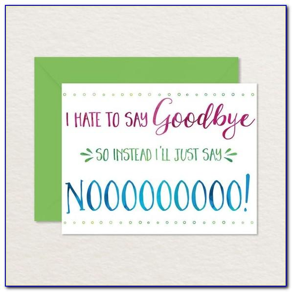 Free Printable Farewell Cards For Colleagues