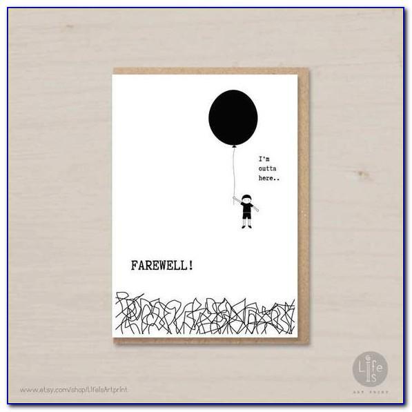 Free Printable Farewell Goodbye Cards