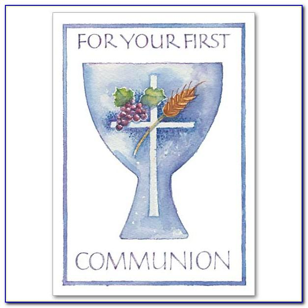 Free Printable First Holy Communion Greeting Cards