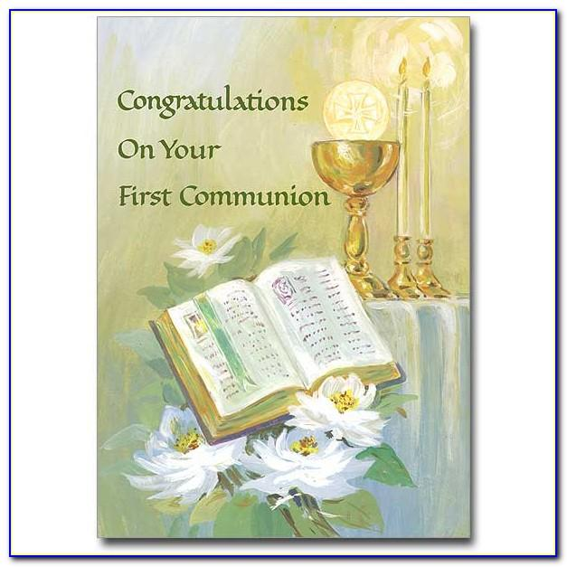Free Printable First Holy Communion Thank You Cards