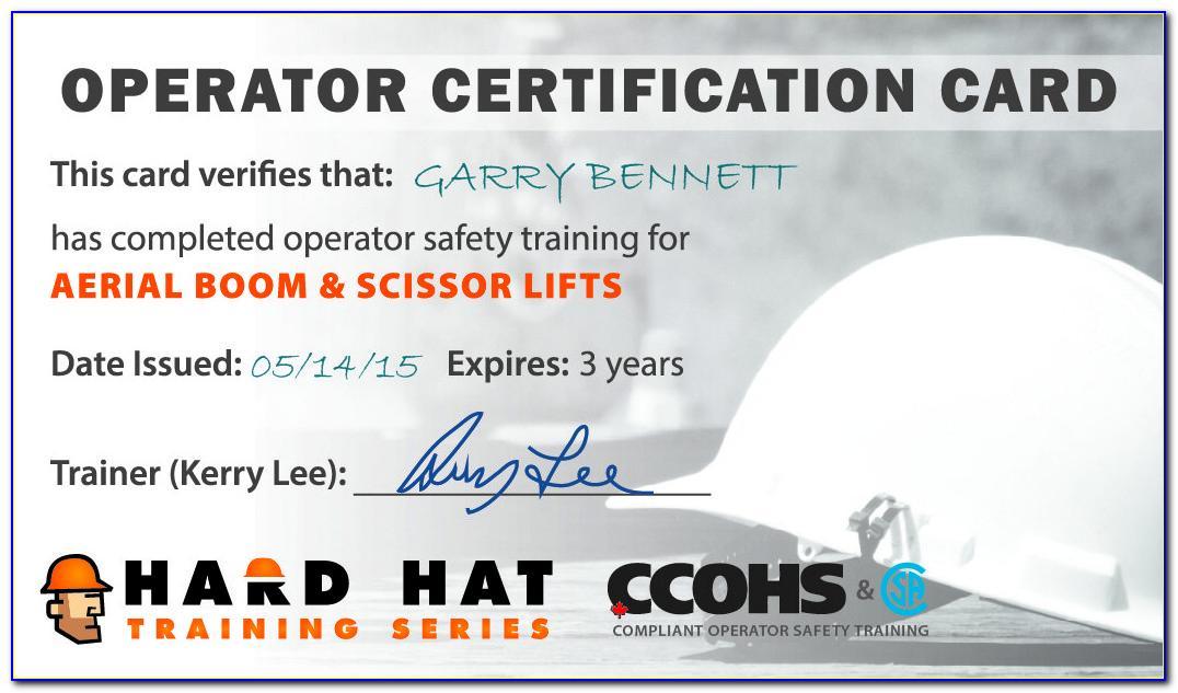 Free Printable Forklift Certification Cards