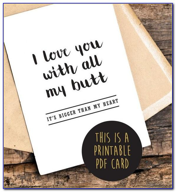 Free Printable Funny Anniversary Cards For Couple