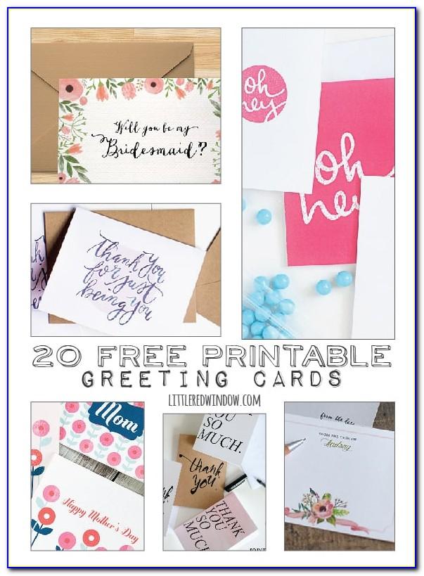 Free Printable Hallmark Thank You Cards