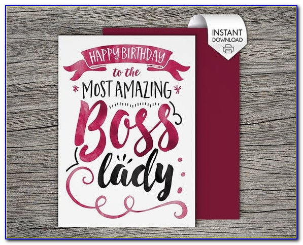Free Printable Happy Birthday Cards For Boss