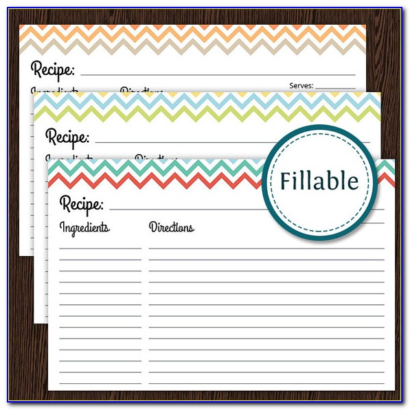 Free Printable Lined Recipe Cards 4x6