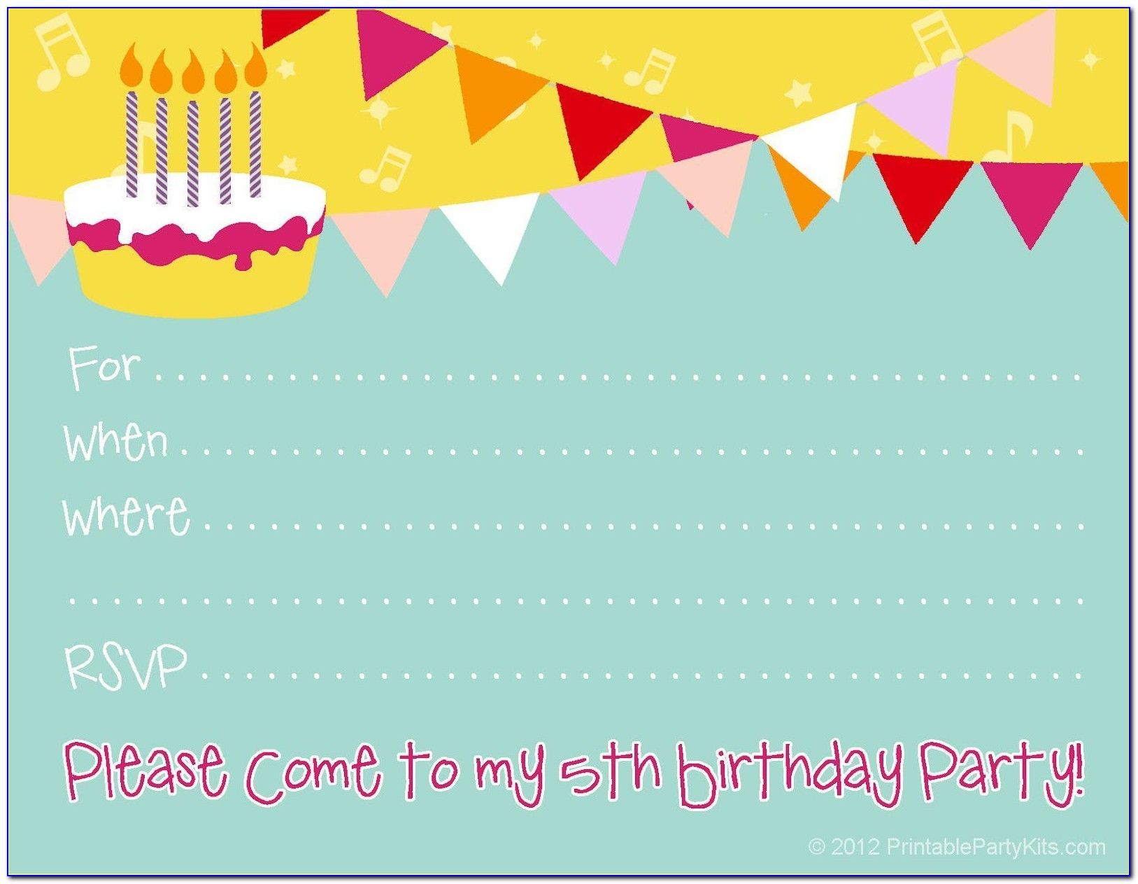 Free Printable Pop Up Birthday Card Templates