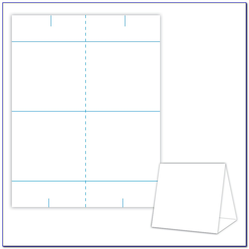 Free Printable Table Tent Card Template