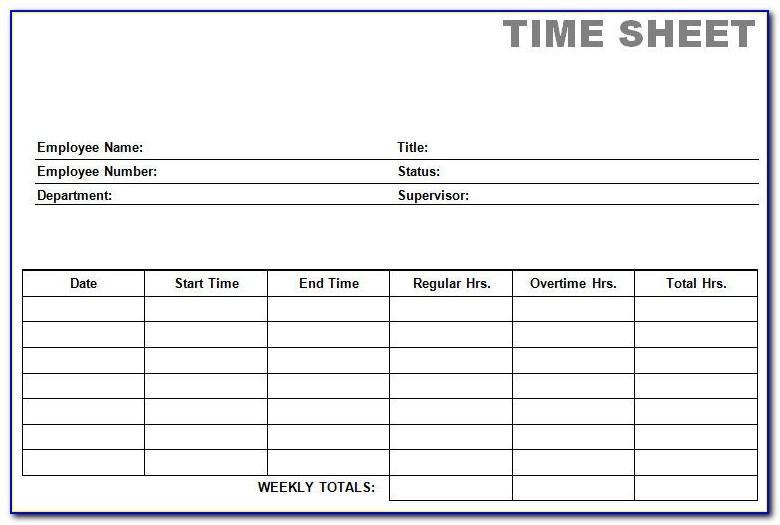 Free Printable Time Cards Pdf