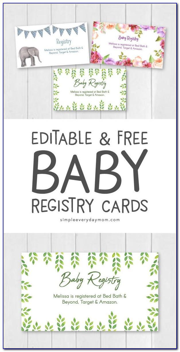Free Printable Wedding Registry Cards