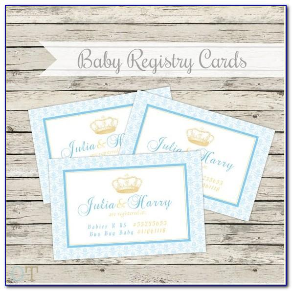 Free Printable Wedding Registry Insert Cards