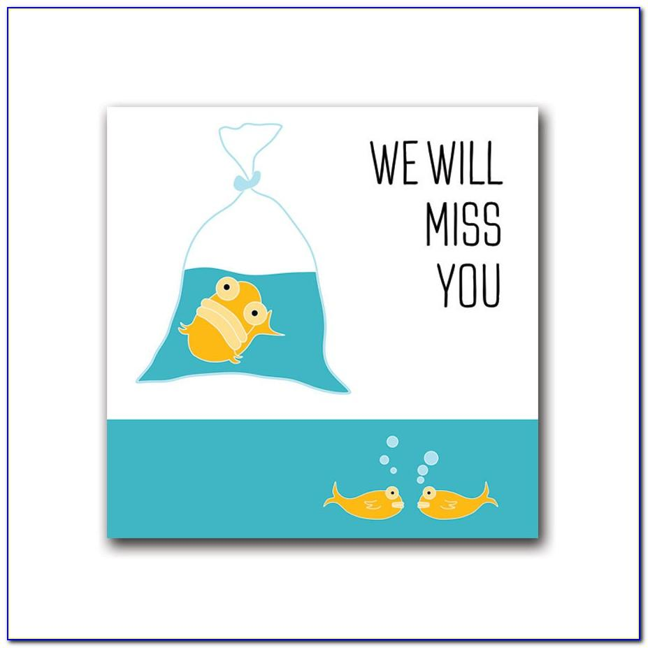 Free Printable We'll Miss You Cards