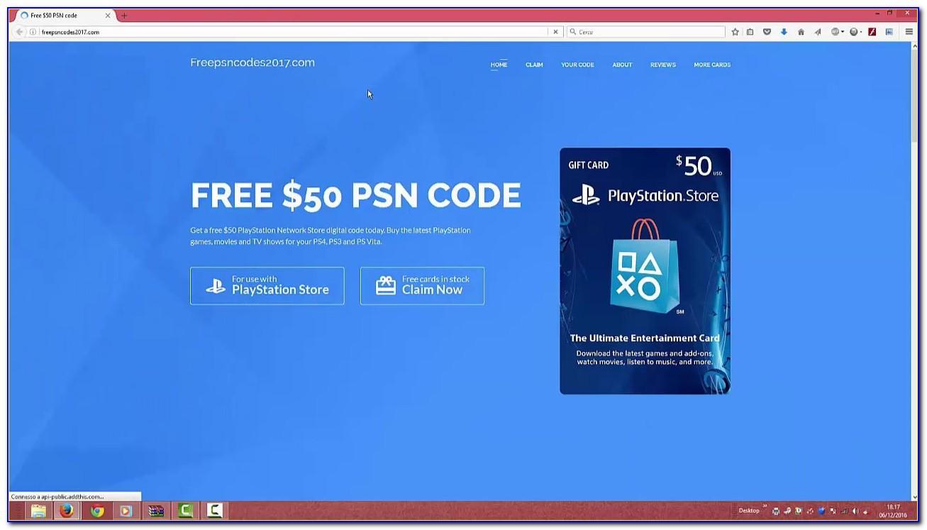 Free Psn Card Codes No Human Verification
