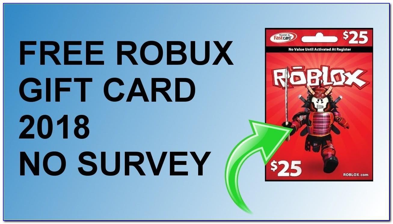 Free Roblox Card No Human Verification