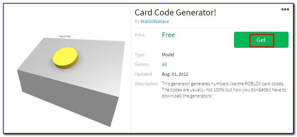Free Roblox Card Pin