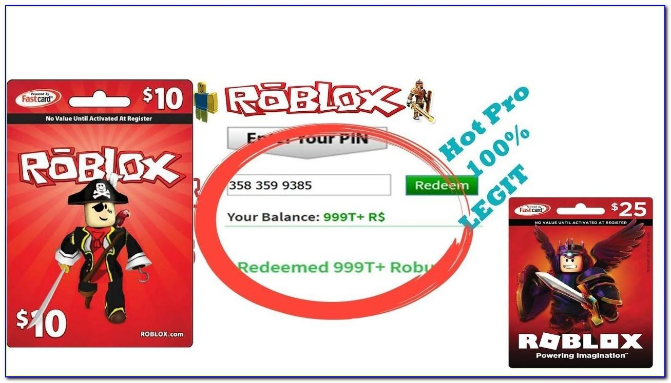 Free Robux Redeem Card Codes 2020