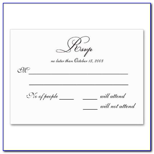 Free Rsvp Card Template Word