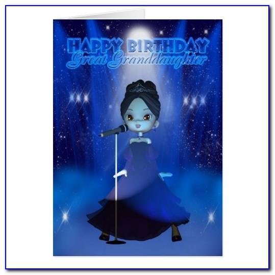 Free Singing Birthday Cards For Granddaughter