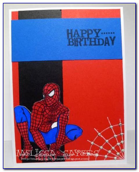 Free Spiderman Birthday Cards To Print