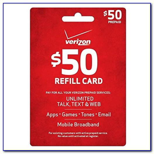 Free Verizon Wireless Prepaid Refill Card