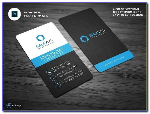 Free Vertical Business Card Template Word